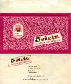 Orieta, milk chocolate, 75g, 1960, Zora, Olomouc, Czech Republic (CZECHOSLOVAKIA)